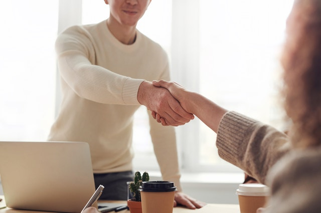 interview hand shake